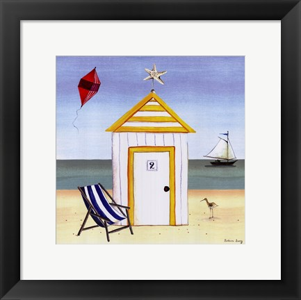 Framed Beach House 2 Print