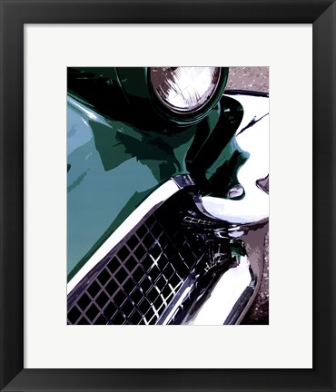 Framed Tail Fins And Two Tones III Print