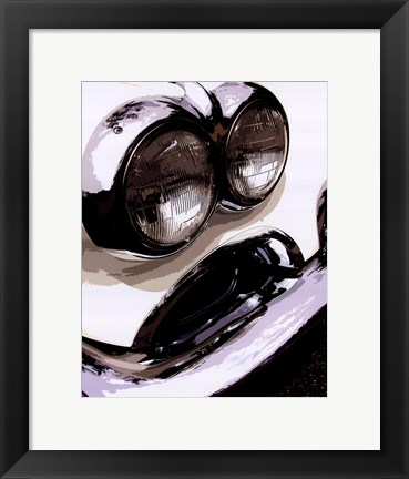 Framed Tail Fins And Two Tones IV Print