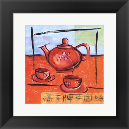 Framed Asian Tea Set II Print