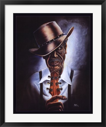Framed Blues Legend Print