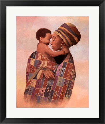 Framed Family Values Woman Print