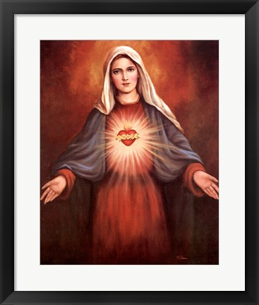 Framed Mary's Immaculate Heart Print