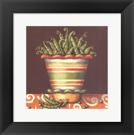 Framed Peas In A Bowl Print
