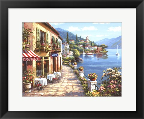 Framed Overlook Cafe I Print