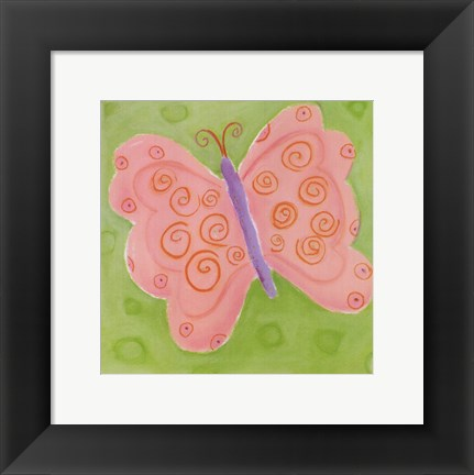 Framed Peace Butterfly Print