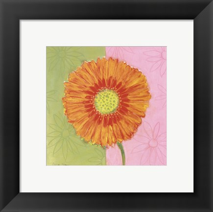 Framed Orange Daisy Print