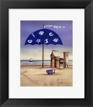 Framed Sandcastles By The Sea Print