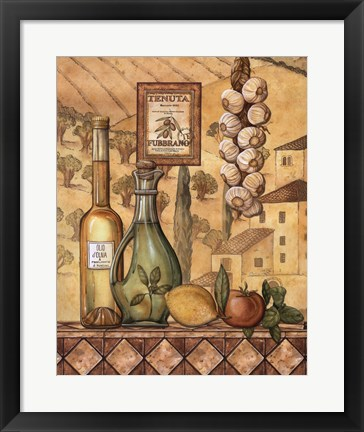 Framed Flavors Of Tuscany IV Print