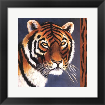 Framed Exotic Tiger - Mini Print