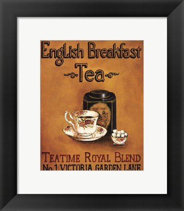 Framed English Breakfast - Mini Print
