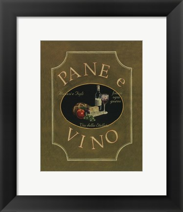 Framed Pane E Vino - Mini Print