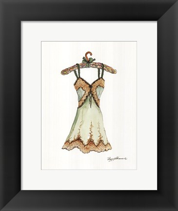 Framed Silk and Lace Print