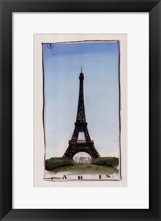 Framed World Landmark Paris Print