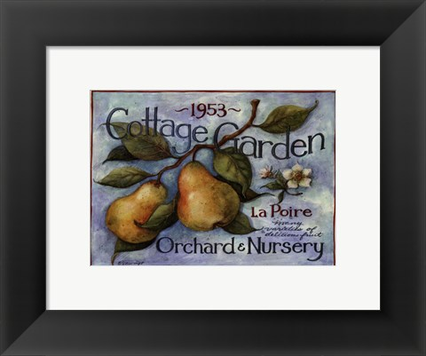 Framed Cottage Garden II Print