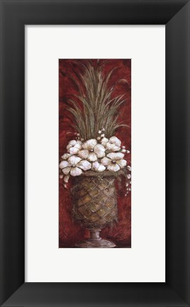 Framed Tall Red Floral II Print