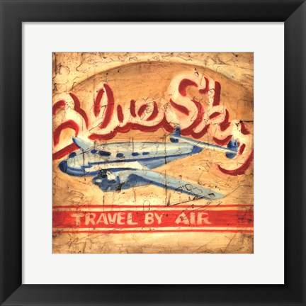 Framed Blue Sky Travel Print