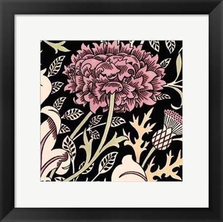 Framed Baroque Beauty I Print