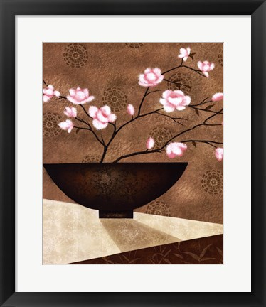 Framed Cherry Blossom in Bowl Print