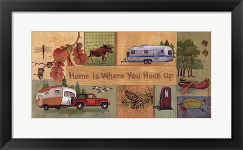 Framed Home is Where You Hook Up - quote Print