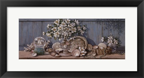 Framed Seashell Collection II Print