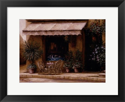 Framed Toscana Cafe Print