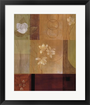 Framed Misty Blooms II Print