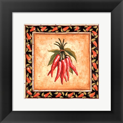 Framed Chiles II Print
