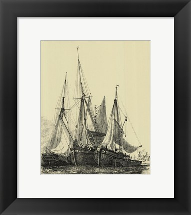 Framed Ships And Sails I Print