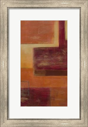 Framed Orange Two-Step III Print