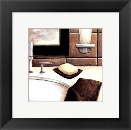 Framed Modern Bath Elements I Print