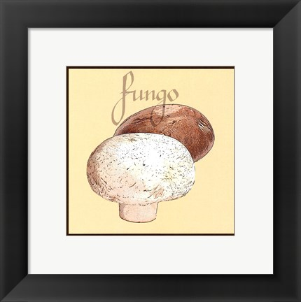 Framed Italian Vegetable V Print