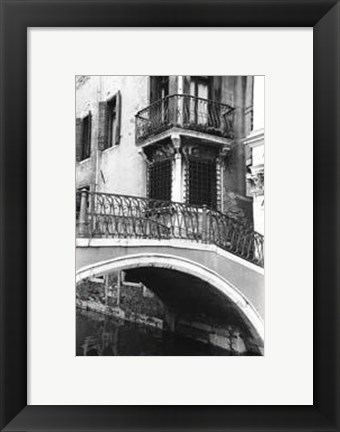 Framed Venetian Bridge Print