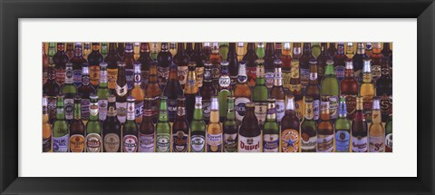 Framed Beers of the World Print