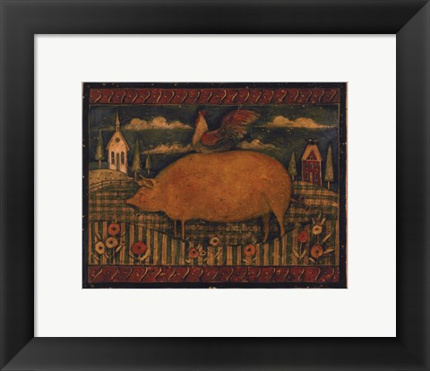 Framed Farmhouse Pig Print