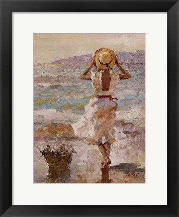 Framed Seaside Summer I Print