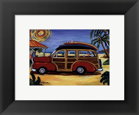 Framed Red Woody Print