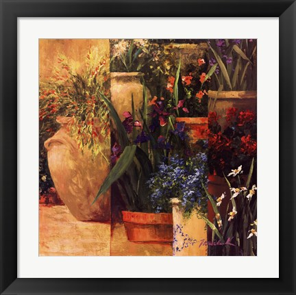 Framed Flower Pots Left Print