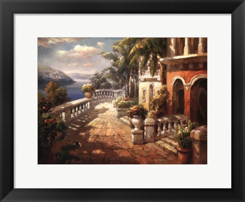 Framed Seaside Terrace Print