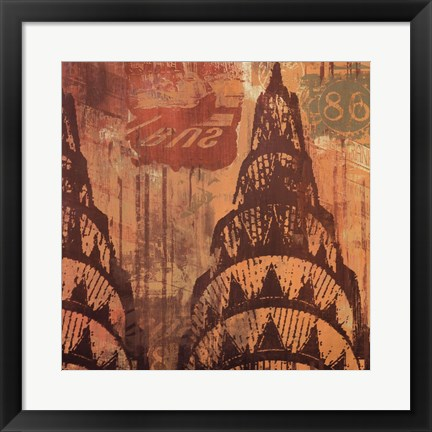 Framed New York Chrysler Building II Print