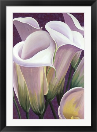Framed Purple Lillies Print
