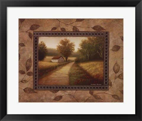 Framed New Country Glimpse Print