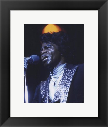 Framed James Brown Print