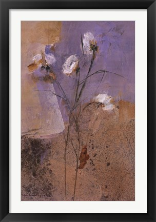 Framed Flowers of June Series I Print