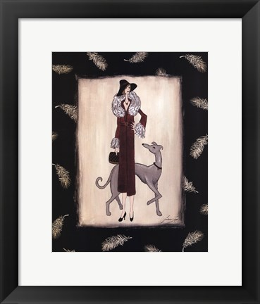 Framed tapp - Evening Promenade Print