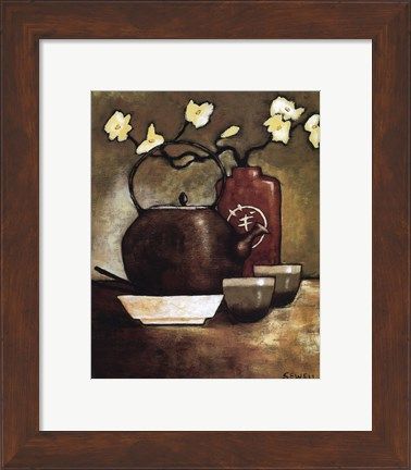 Framed Takara Tea Room Print