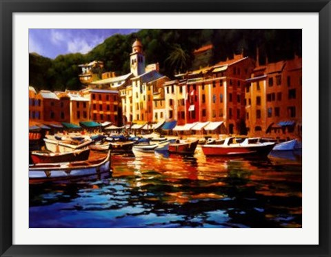 Framed Portofino Colors Print