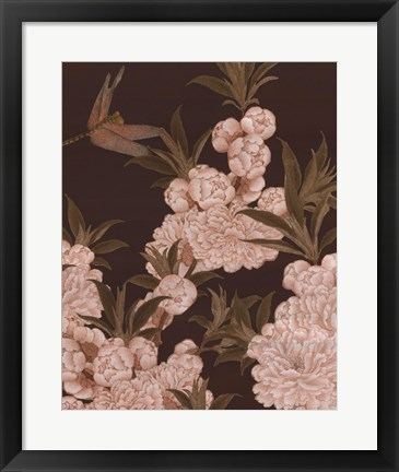 Framed Asian Brocade III Print