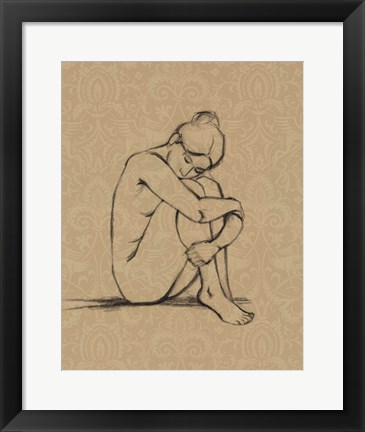 Framed Sophisticated Nude III Print