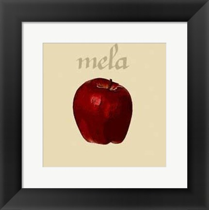 Framed Italian Fruit VIII Print